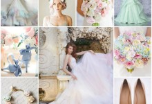 Douceur et romantisme : place aux nuances pastel sur la tenue de la mariée