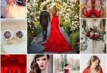 Le rouge passion, la couleur tendance 2018 qui sublime votre tenue de mariée !