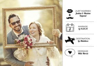 confectionner ses cartes de remerciements cest si facile sur popcarte - Remerciement Mariage