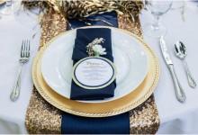 10 décorations qui donnent envie de colorer son mariage de bleu marine