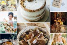 Notes brunes et touches couleur miel : nos inspirations pour un mariage automnal
