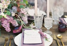 6 manières délicates et romantiques de mettre en scène un mariage couleur lilas