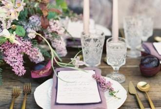 6 manires dlicates et romantiques de mettre en scne un mariage couleur lilas - Ide Thme Mariage