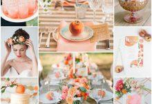 Thème de mariage : ma réception se teinte d'une jolie couleur pêche
