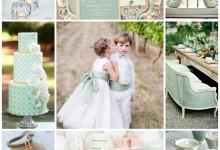 La couleur jade, on y pense pour décorer son mariage ?
