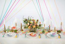 Quelle décoration pour un mariage pastel aux courbes géométriques ?