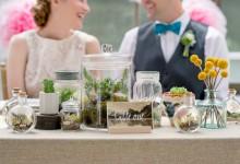 10 idées pour décorer votre mariage chic et végétal avec des terrariums