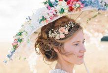 Ombrelle ou éventail en guise de bouquet de mariée ?