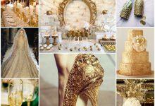Un thème de mariage tout en or, vous en rêvez : quelle mise en scène lui donner ?