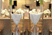 L'infographie qui vous dévoile 8 jolies manières de nouer un ruban autour d'une chaise de mariage !