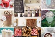 Un bar tout chaud, tout chocolat, tout coloré, quelle belle idée pour un mariage d'hiver !