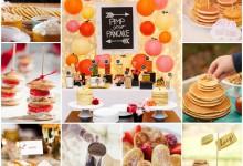 Le bar à pancakes pour votre brunch de mariage, les invités vont adorer l'idée et la dégustation !