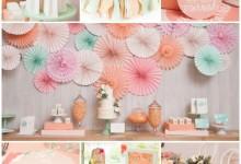Douceur pêche et notes pastel pour décorer votre bridal shower !