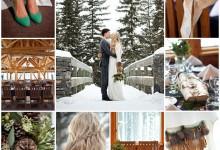 Les montagnes enneigées, un cadre idyllique comme thème de mariage ?