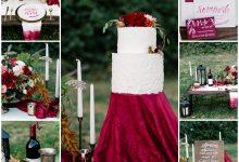 Esprit bohème et touche marsala pour un mariage d'automne chic et nature