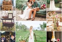 Le mariage bohème et vintage, une inspiration nostalgique et romantique