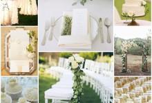 Un mariage délicat et romantique sur le thème «douceur ivoire»