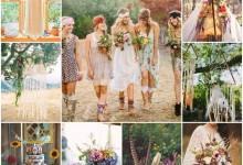 Un mariage sur un air folk et bohème