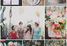 Rendez-vous pour une bridal shower dépaysante entourée de petits cactus colorés