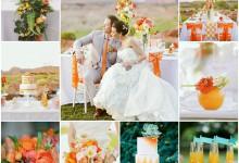 Un mariage pétillant couleur orange tangerine, ça donne quoi ?