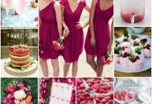 Pour une décoration de mariage pétillante, j'ose la couleur framboise !