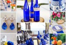 Mon mariage électrique et chic en bleu cobalt
