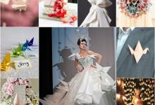 On se plie en quatre pour son mariage avec un thème origami