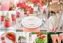 Un mariage ultra frais couleur pastèque, on dit oui !