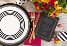 10 idées de décorations de mariage chics et graphiques en noir et blanc