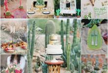 Mon mariage piquant de bonheur sur le thème du cactus