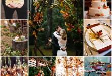 Ma décoration de mariage esprit «forêt automnale», ça donne quoi ?
