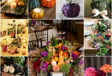 Les légumes d'automne se glissent dans la décoration de votre mariage…