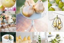 Mon mariage fruité et gourmand autour de la poire