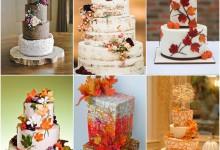 Un doux vent d'automne souffle sur les wedding cakes