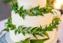 10 gâteaux de mariage tendance greenary dont vous n'allez faire qu'une bouchée
