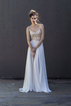 Robe de mariée Nimes Gold par Katarina Grey  collection Blanche 2017
