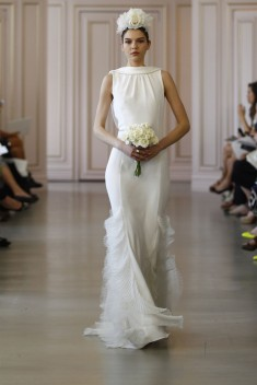 Robe de mariée Look 9 par Oscar de la Renta  collection 2016
