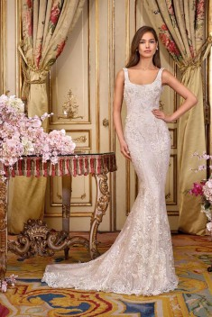 Robe de mariée Look 9 par Demetrios collection Platinum 2018
