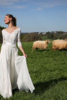 Robe de mariée Lizea par Marie Laporte collection 2017