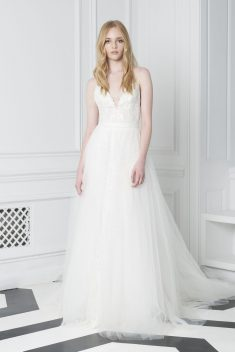 Robe de mariée Look 11 par Monique Lhuillier collection 2018