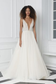 Robe de mariée Look 13 par Monique Lhuillier collection 2018