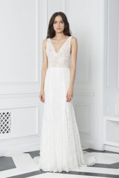 Robe de mariée Look 3 par Monique Lhuillier collection 2018