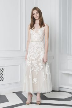 Robe de mariée Look 7 par Monique Lhuillier collection 2018