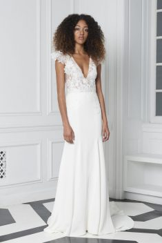 Robe de mariée Look 8 par Monique Lhuillier collection 2018