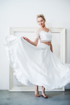 Robe de mariée Clara Elia par Mademoiselle de guise collection 2018