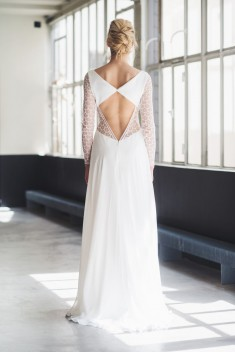 Robe de mariée Flore par Mademoiselle de guise collection 2018