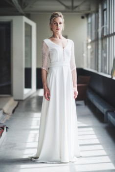Robe de mariée Lucie par Mademoiselle de guise collection 2018