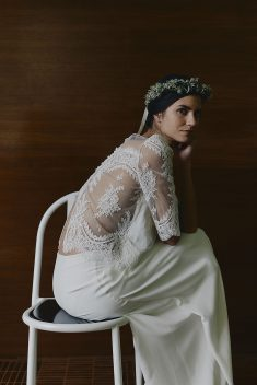 Robe de mariée Top Montand & Jupe Greta par Laure de Sagazan collection 2018